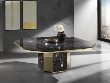 Natural stone table LEDA