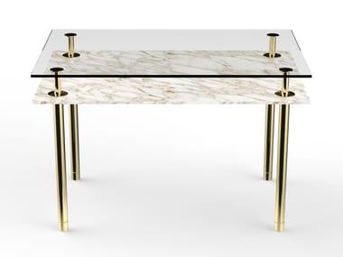 Rectangular marble table LEGS | Rectangular table