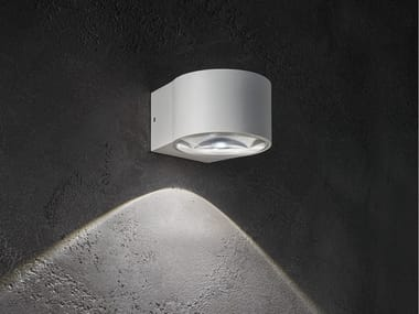 Lampada da parete per esterno in alluminio pressofuso LENS | Lampada da parete per esterno