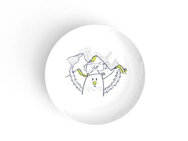 Round porcelain plate for children LÉO