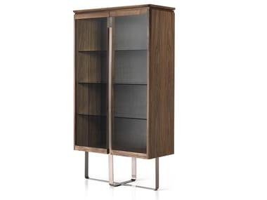 Walnut display cabinet LEONARDO L513N | Display cabinet