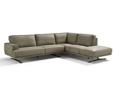Corner sectional leather sofa MASSETO
