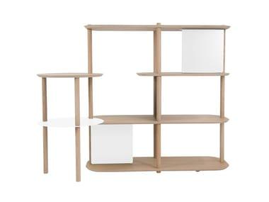 Modular wooden shelving unit LÉOPOLD