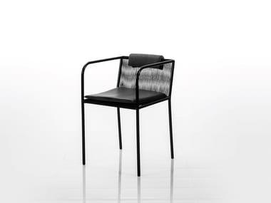 Sedia con braccioli LES COPAINS LOW | Sedia con braccioli