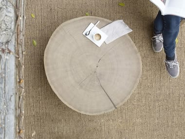 Round wooden coffee table LESCA