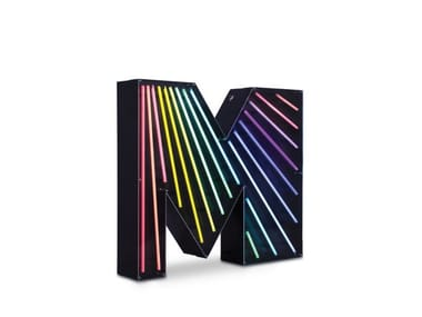 Light letter LETTER M