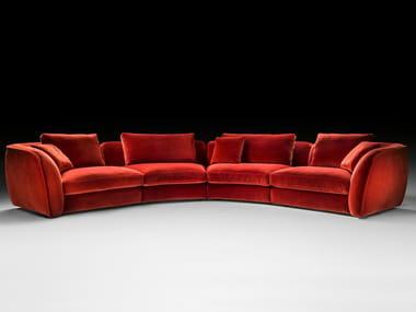 Sofá secional curvo de tecido LEVANTE   Sofá modular