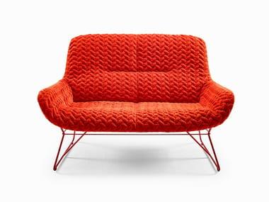 Fabric small sofa LEYA LOUNGE COUCH