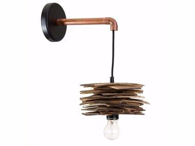 Multi-layer wood wall lamp SHINGLE | Wall lamp