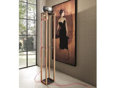 Wooden floor lamp LH23