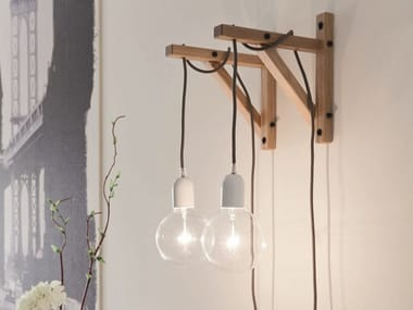 Halogen wooden wall lamp LH60