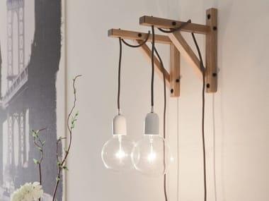 Lampada da parete alogena in legno LH60