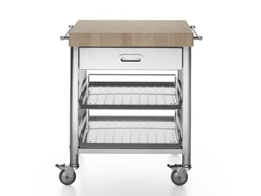 Stainless steel Kitchen trolley with drawers LIBERI IN CUCINA | Kitchen trolley with drawers