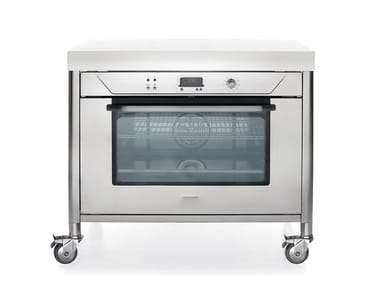 Contemporary style table top electric stainless steel oven LIBERI IN CUCINA | Oven