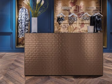 Indoor single-fired ceramic wall tiles with brick effect LIBRA