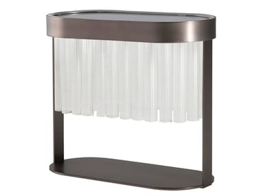 Glass and steel table lamp LIBRETTO   Table lamp