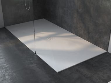 Rectangular extra flat Corian® shower tray LIEGE