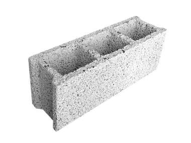 Lightened concrete block for external walls LIGHT BLOCK