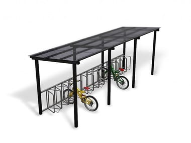 Metal porch for bicycles and motorcycles LIGHT
