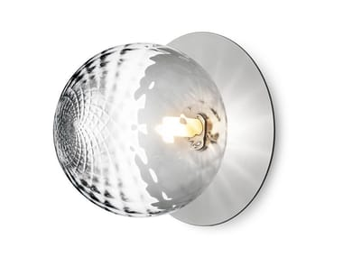 Blown glass wall lamp / ceiling lamp LIILA 1 LARGE OPTIC