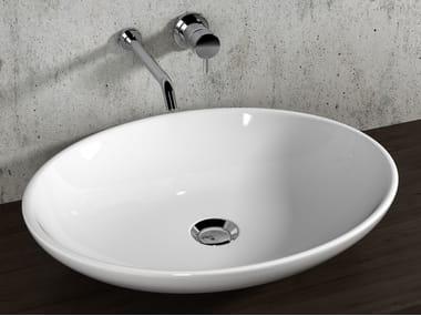 Lavabo da appoggio ovale in ceramica ATENE   Lavabo ovale