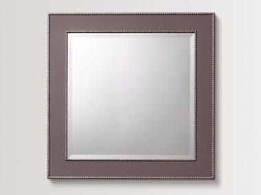 Square wall-mounted framed mirror LILAC