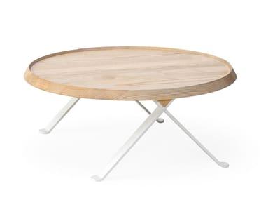 Coffee table in frassino e metallo LILLIPUT 313