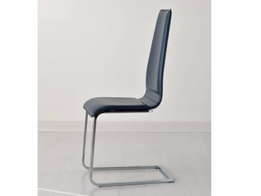 Cantilever upholstered leather chair LILO | Cantilever chair