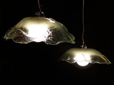 Glass pendant lamp LILY