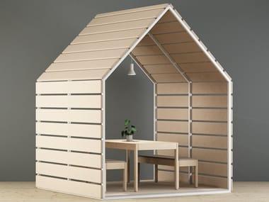 Cabine de bureau acoustique en bois LIMBUSBARN 300