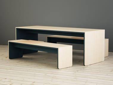 Tavolo da riunione rettangolare in legno LIMBUSCAMPUS | Tavolo da riunione
