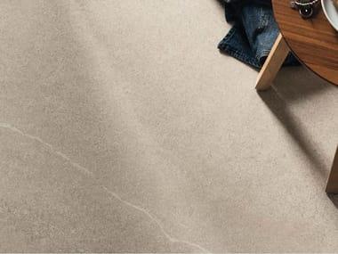 Pavimento/rivestimento in gres porcellanato effetto pietra per interni ed esterni LIME-ROCK A