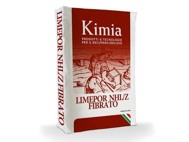 Hydraulic and hydrated lime based plaster LIMEPOR NHL/Z FIBRATO