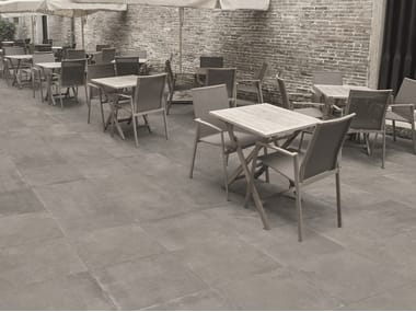 Stoneware flooring with stone effect LIMESTONE