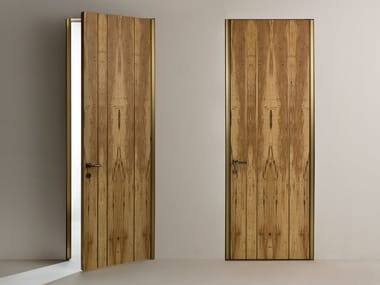 Hinged flush-fitting door with concealed hinges LINE | Hinged door