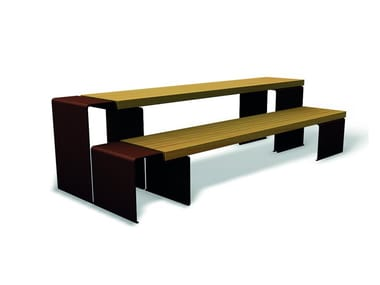 Rectangular wooden Table for public areas LINEA 1310/1325