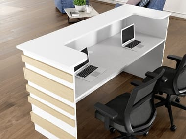 Office reception desk LINEA 2 | Office reception desk