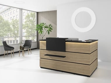 Office reception desk LINEA 3 | Office reception desk