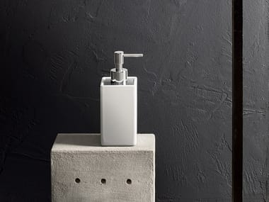 Ceramic Bathroom soap dispenser LINEA | Bathroom soap dispenser