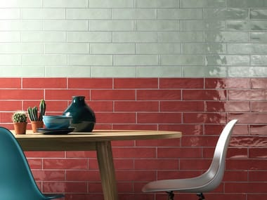 Pavimento/rivestimento in ceramica a pasta bianca LINEA