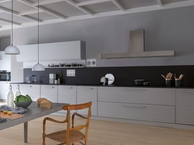 Linear natural aluminium fitted kitchen CINQUETERRE | Linear kitchen