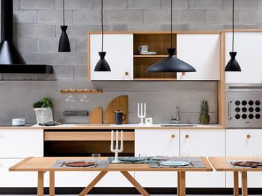 Linear Bianco Malè Fenix fitted kitchen LEPIC | Linear kitchen