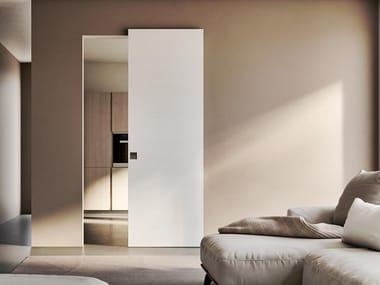 Lacquered wooden sliding door LINEAR   Sliding door