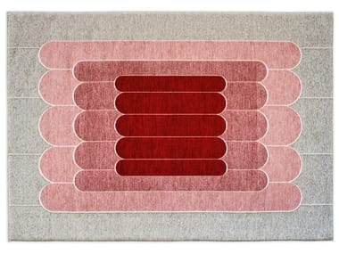 Rectangular rug with geometric shapes LINEE