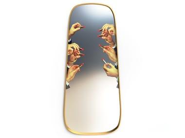 Framed wall-mounted mirror LIPSTICKS | Rectangular mirror