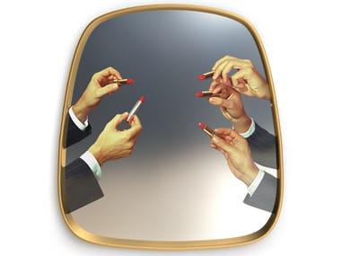 Framed wall-mounted mirror LIPSTICKS | Mirror
