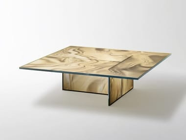 Low square crystal coffee table LIQUEFY | Square coffee table