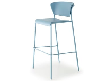 High technopolymer stool with footrest LISA TECHNOPOLYMER | Stool