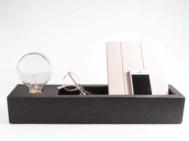 Marble table lamp / pin tray LIT | Marble pin tray