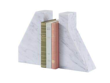 Apoio de livros de mármore de Carrara LITHOS